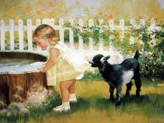 criança e animal