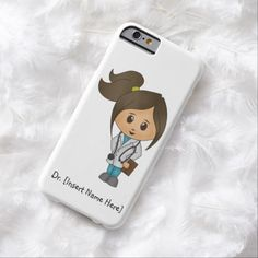 Personalize Cute Brunette Female Doctor iPhone 6
