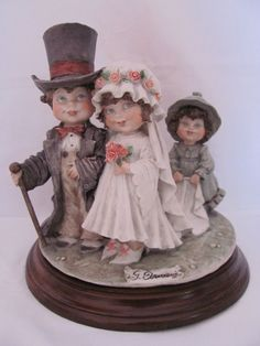 Giuseppe Armani Capodimonte Figurine Sculpture Children Wedding Party 1982