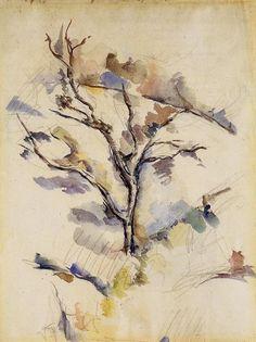 The Oak, 1885 Paul Cezanne