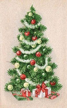 Velvet background Christmas card tree