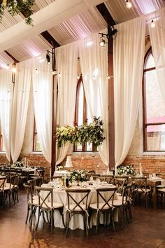 romantic wedding reception with ivory draping #wedding #weddingideas #barnwedding