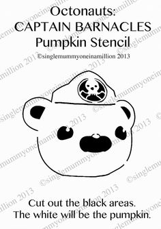 Single Mummy; One In A Million: Octonauts: Captain Barnacles Pumpkin Stencil