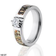 Fabulous Camo Engagement Ring w Genuine Diamond Official Mossy Oak