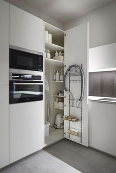 Do you want to have an IKEA kitchen design for your home? Every kitchen should have a cupboard for food storage or cooking utensils. So also with IKEA kitchen design. Here are 70 IKEA Kitchen Design Ideas in our opinion. Hopefully inspired and enjoy! Kitchen Corner Cupboard, Corner Pantry, Corner Storage, Kitchen Storage, Cabinet Storage, Small Storage, Kitchen Organization, Ikea Kitchen Pantry, Storage Shelving