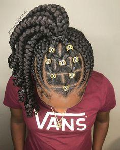 Feeder braids, Ghana braids, feedin braids, kids braids, children hair - Home Tree Braids Hairstyles, Natural Braided Hairstyles, Easy Hairstyles, Teenage Hairstyles, Layered Hairstyles, Hairdos, Black Girl Braids, Braids For Black Hair, Braids For Kids