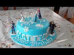 Free Frozen Elsa Cake Tutorial - YouTube