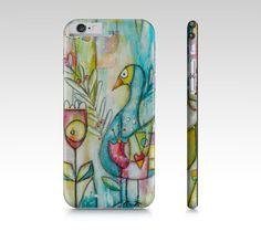 Étui I Pad mini, coque IPhone, étui Samsung fleurs multicolores et oiseau par…