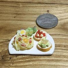 #カルボナーラ #ブルスケッタ #サラダ #イタリアン #carbonara #bruschetta #italian #yummy #yum  #handmade #claywork #miniature #fakefood