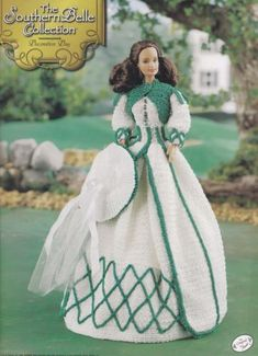 Southern-Belle-Decoration-Day-Dress-Annie-039-s-Crochet-Fashion-Doll-Pattern-Booklet