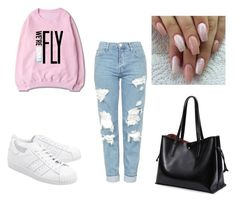 """""""Thursday Look on a Autumn year"""" by alayakim-kim ❤ liked on Polyvore featuring Topshop and adidas Originals"""