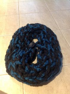 Items similar to Infinity Scarf - double wrap circle scarf chunky textured loose knit dark charcoal with teal & button on Etsy Circle Scarf, Charcoal, Tights, Teal, Buttons, Knitting, Fashion, Navy Tights, Moda