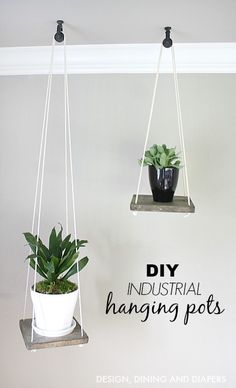 DIY Hanging Planter With Rope Hanging Planters, Ropes and Planters