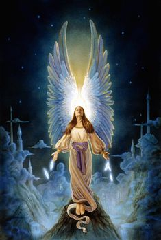 An Angel Says ...  God has not promised us a quiet journey, only a safe arrival.  ~/~Angel art print of original oil painting titled by TheArtOfSpirit, $25.00