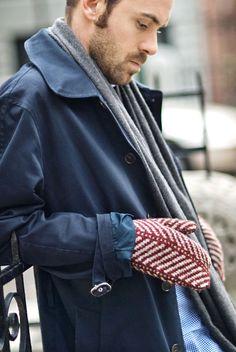 Strago mittens from Brooklyn Tweed