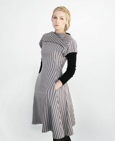 R.E.N.E.E cotton stripy  dress