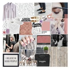 """""""collab with tesla!"""" by lace-and-glitter ❤ liked on Polyvore featuring NLXL, Chanel, Christy, Disney, Broste Copenhagen, H&M, MTWTFSS Weekday, Serfontaine, Topshop and Brinkhaus"""