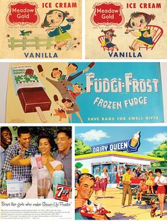 Ice Cream Ads by Toodleson, via Flickr