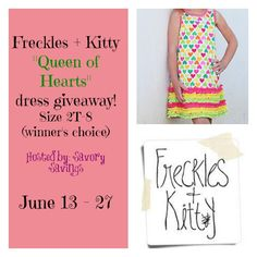 Freckles + Kitty Queen Of Hearts Dress #Giveaway, ends 6/27
