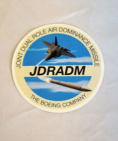 """The Boeing Company JDRADM Joint Dual Role Air Dominance Missile Sticker 4"""""""