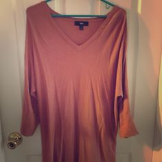 Mossimo dark pink rose color light sweater Size large. Lightly used. Light long sweater. Mossimo Supply Co Tops Tunics