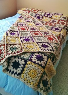 Color Burst Afghan By Michael Sellick - Free Crochet Pattern - (ravelry)
