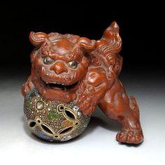 GH6: Vintage Japanese Fu Lion Foo Dog of Kutani Ware
