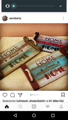 Home sweet home Pallet Crafts, Pallet Art, Diy Wood Projects, Wood Crafts, Windmill Diy, Image Zen, Painted Trays, Rustic Art, Wood Tray