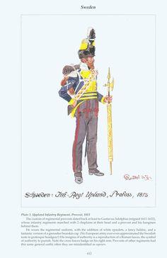 Sweden: Plate 5. Uppland Infantry Regiment, Provost, 1813