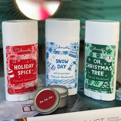 Ho ho holy moly these new holiday scents from @schmidtsnaturals smell SO dang GOOD! Theyre #allnatural #vegan #crueltyfree available in sensitive skin formula annnd theyre made right here in Portland! Yahoooooo!! Has anyone else tried these yet? xoxo