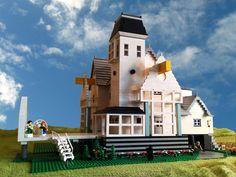 LEGO Ideas - The Lego Beetlejuice House! This is so amazing! I would totally buy anything Lego Beetlejuice. Lego Tv, All Lego, Beetlejuice House, Lego Storage, Lego Group, Lego Design, Lego Projects, Lego Building, Legoland