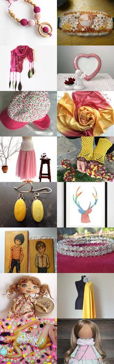 Rosa*Giallo by Laura P. on Etsy--Pinned with TreasuryPin.com