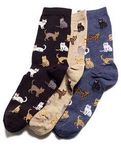 Hot Sox Women's Cats Trouser Socks i have the light brown ones two pairs of them Looks Style, My Style, Form Style, Trouser Socks, Crazy Socks, Black Socks, Cute Socks, Fashion Socks, Leggings