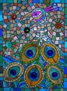 Peacock Mosaic Pattern #mosaic #art