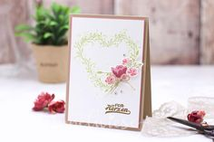 Muttertagskarte mit Blumen - Blumenkranz - Glasklare Grüße