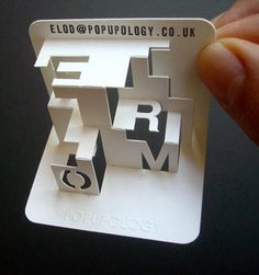 creative cool unique calling business cards