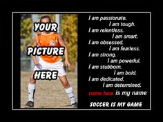 This motivational artwork is printed to order on heavy weight gloss photo paper, inserted in a 100% archival safe, acid-free clear sleeve and carefully packaged in flat mailer to ensure safe delivery.    The print is ready for you to frame. It would make a great gift for any aspiring soccer player.    Include the desired name in the order notes. Send your picture to me via convo..    Buy with confidence. I stand behind everything I sell. If you are not satisfied with any aspect of your…
