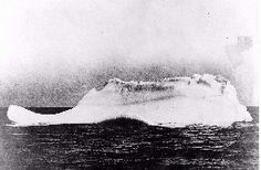 This is believed to be a photo of the iceberg Titanic struck. Photo taken by the cable ship MacKay-Bennett hired by the White Star Line and dispatched to recover Titanic's dead in the water. The berg supposedly got the MacKay-Bennett's attention due to the fact that there were scars of red and black paint evident on the bergs base.    (Image Credit: International Ice Patrol)