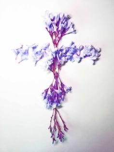 purple flower cross