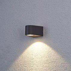 Naar beneden schijnende led-buitenwandlamp Hermine