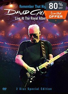 #spring2018 This 2 DVD set features On an Island, David's long-awaited 3rd and #best-selling solo album in its entirety plus Pink Floyd classics #plus guest appea...
