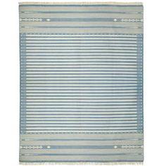 Sanskrit Striped Cotton Dhurrie Rug, Large