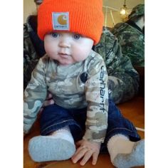 Carhartt Baby aww I just love Alyssa's little man to death! Baby Boys, Our Baby, Baby Boy Country, Carters Baby, Baby Boy Hats, Baby Outfits, Kids Outfits, Little Babies, Cute Babies