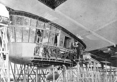 Big Hindenburg control car under construction.