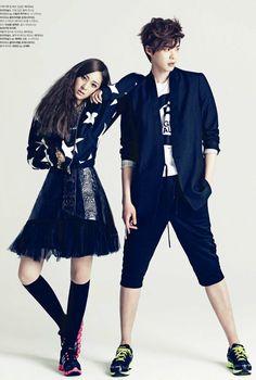 Krystal Jung with Lee Jong Suk for High Cut Korea