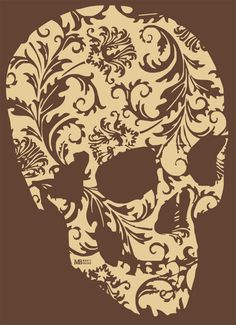 This would be a cool twist to a dia de los muertos tattoo. Skull Tattoos, Tribal Tattoos, Art Tattoos, Tattoo Crane, Los Muertos Tattoo, Totenkopf Tattoos, Skull And Bones, Skull Art, Lace Skull