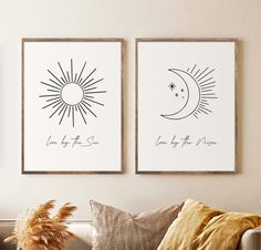 Beige Art, Neutral Art, Moon Art, Floral Printables, Wall Art Quotes, Quote Wall, Sun Moon, My New Room, Wall Art Sets