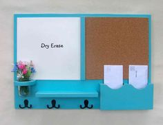 Mail+Organizer+++Cork+Board++White+Board+Mail+by+LegacyStudio,+$99.95