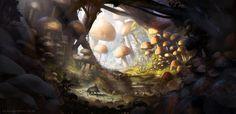 Mushroom Land by jordangrimmer.deviantart.com on @deviantART