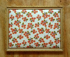 Upcycled wood picture frame jewelry holder / pin board